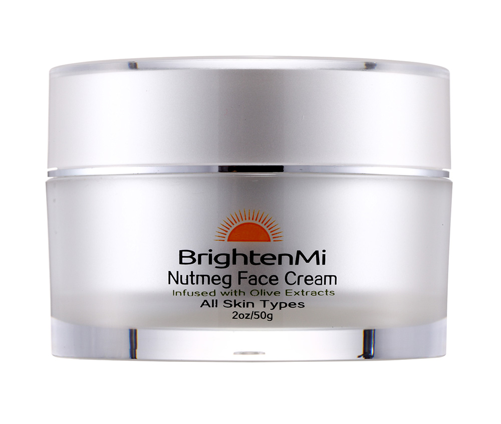 BrightenMi Nutmeg Face Cream Infused with Olive extracts - the secret to your most beautiful dark skin