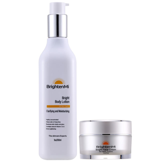 BrightenMi Olive Line bright body lotion and bright face cream